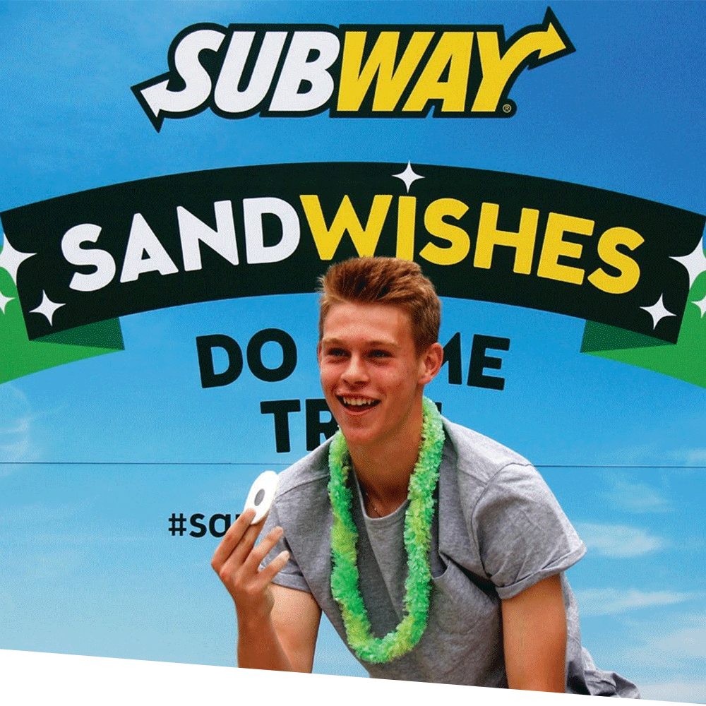 Experiential Marketing Subway Sandwhishes
